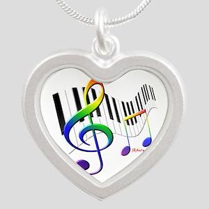 Keyboard & Treble Clef Necklaces