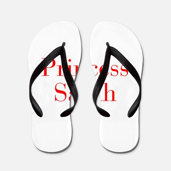 Princess Sarah-bod red Flip Flops