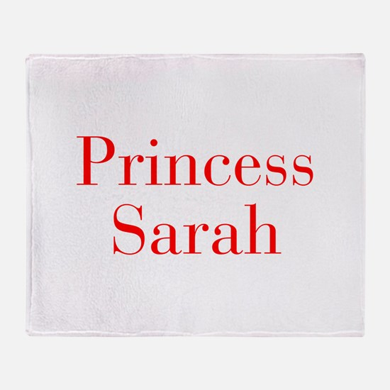 Princess Sarah-bod red Throw Blanket