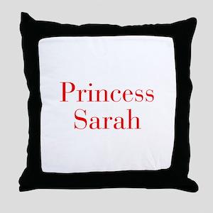 Princess Sarah-bod red Throw Pillow