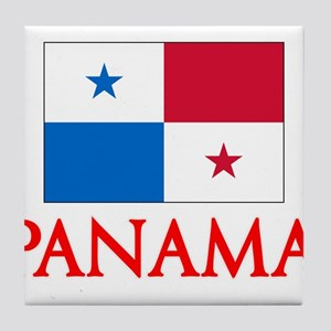 Panama Flag Design Tile Coaster