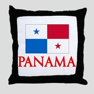 Panama Flag Design Throw Pillow