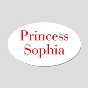 Princess Sophia-bod red Wall Decal