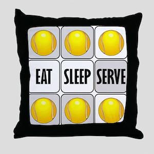 Eat Sleep Serve Tennis Throw Pillow