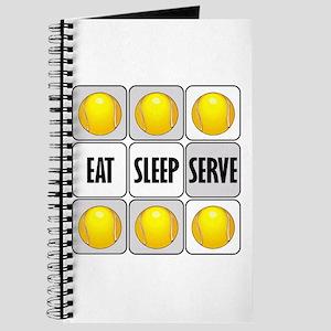 Eat Sleep Serve Tennis Journal