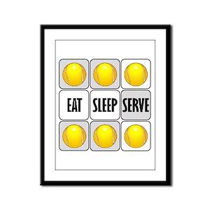 Eat Sleep Serve Tennis Framed Panel Print