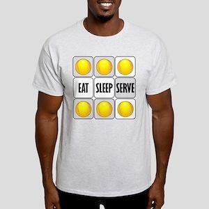 Eat Sleep Serve Tennis Light T-Shirt