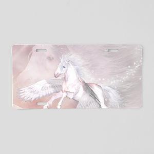 Flying Unicorn Aluminum License Plate