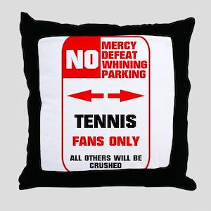no parking tennis Throw Pillow