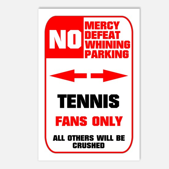 no parking tennis Postcards (Package of 8)