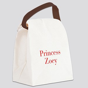 Princess Zoey-bod red Canvas Lunch Bag