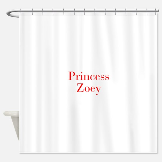 Princess Zoey-bod red Shower Curtain