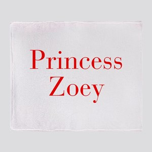 Princess Zoey-bod red Throw Blanket