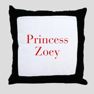Princess Zoey-bod red Throw Pillow