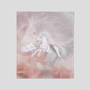 Flying Unicorn Throw Blanket