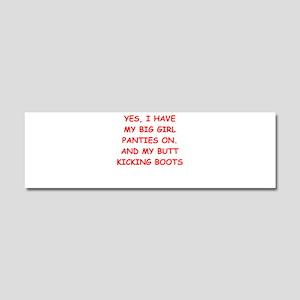 big girl panties Car Magnet 10 x 3