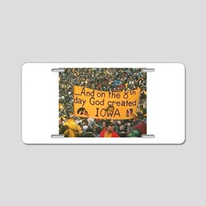 Iowa Football Photos Aluminum License Plate