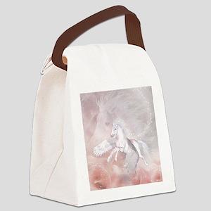 Flying Unicorn Canvas Lunch Bag