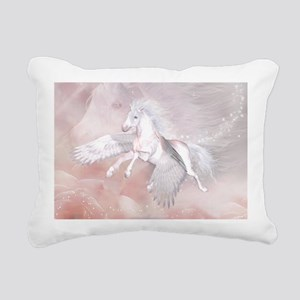 Flying Unicorn Rectangular Canvas Pillow