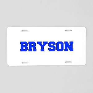 BRYSON-fresh blue Aluminum License Plate