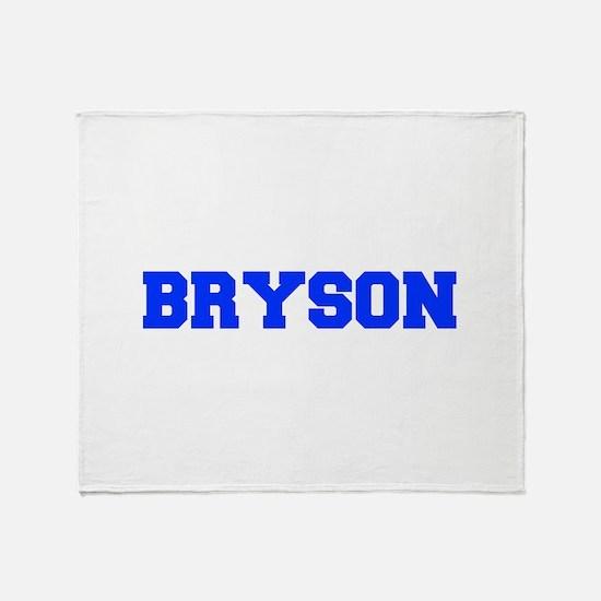 BRYSON-fresh blue Throw Blanket