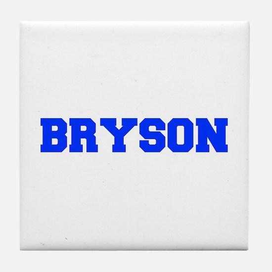 BRYSON-fresh blue Tile Coaster