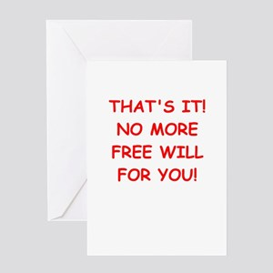 free will Greeting Card