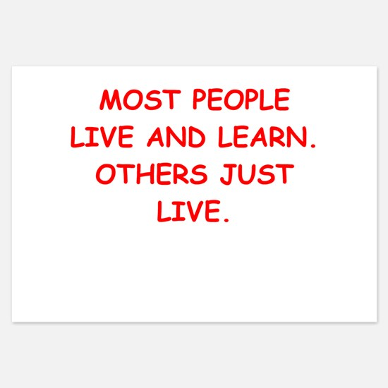 live and learn Invitations