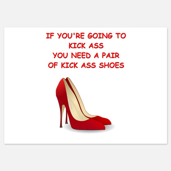 red high heels Invitations