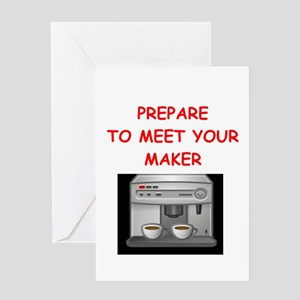 Funny Coffee Maker Greeting Cards