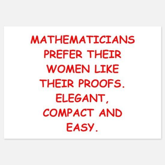 mathematician Invitations