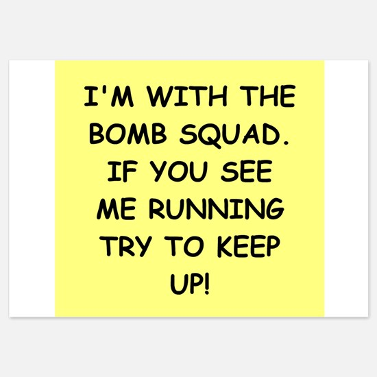 bomb squad Invitations
