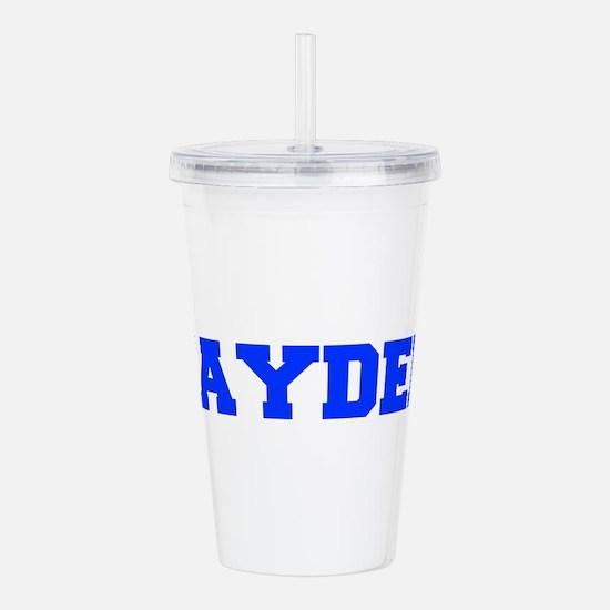 JAYDEN-fresh blue Acrylic Double-wall Tumbler