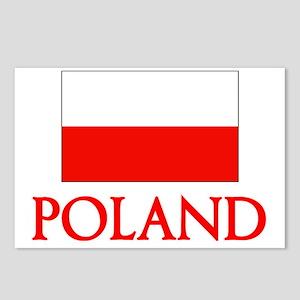 Poland Flag Design Postcards (Package of 8)