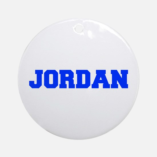 JORDAN-fresh blue Ornament (Round)