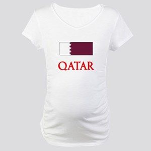 Qatar Flag Design Maternity T-Shirt
