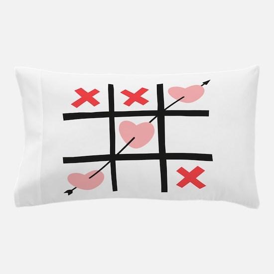 Tic Tac Toe Hearts Pillow Case