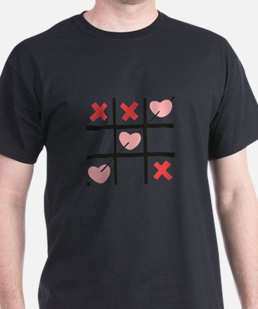 Tic Tac Toe Hearts T-Shirt
