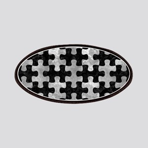 PUZZLE1 BLACK MARBLE & GRAY METAL 2 Patch