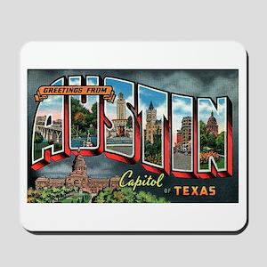 City Of Austin Postcard Mousepad