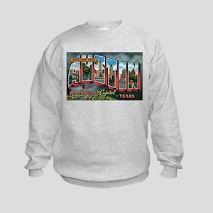 City Of Austin Postcard Kids Sweatshirt