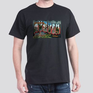 City Of Austin Postcard Dark T-Shirt
