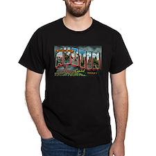 City Of Austin Postcard Dark T-Shirt