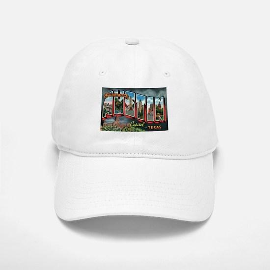 City Of Austin Postcard Baseball Baseball Cap