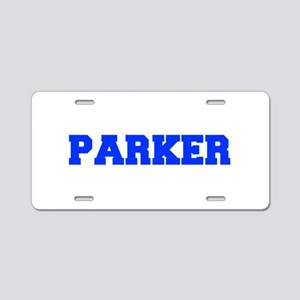 PARKER-fresh blue Aluminum License Plate