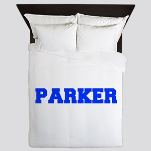 PARKER-fresh blue Queen Duvet