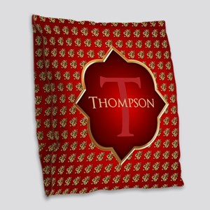 Ancient Roman Pattern Burlap Throw Pillow