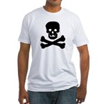 Skull and Crossed Bones Fitted T-Shirt
