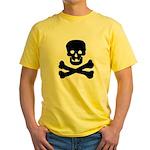 Skull and Crossed Bones Yellow T-Shirt