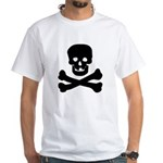 Skull and Crossed Bones White T-Shirt